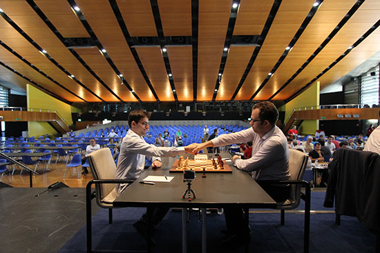 Ronde 1 : Maxime Vachier-Lagrave le meilleur joueur d'échecs français annule face à Pavel Eljanov © site officiel