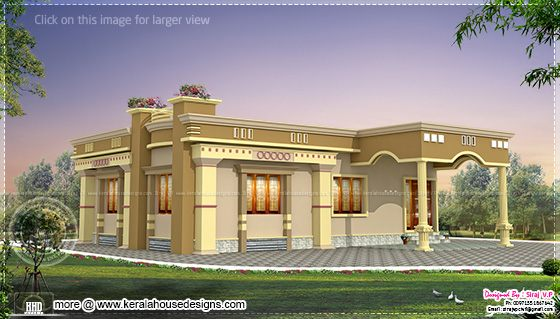 Small south indian home design for South indian small house designs
