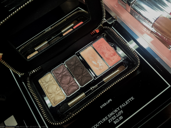 Dior Couture Smoky Palette Holidays 2015 Swatches