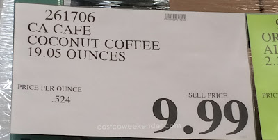 Deal for CAcafe Coconut Coffee at Costco