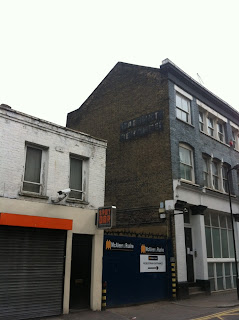 Old (ghost) sign on Hoxton Street, Shoreditch, London EC2