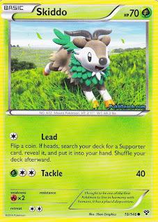 Skiddo Pokemon X and Y Card