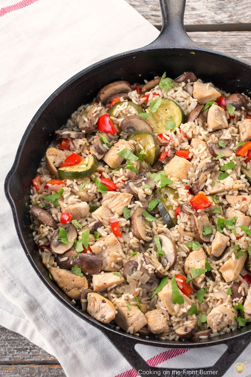 Italian Style Skillet Dinner #EatHealthy15 | Cooking on the Front Burner