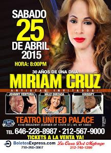 MIRIAM CRUZ Celebra Su 30 Aniversario De Carrera Musical.