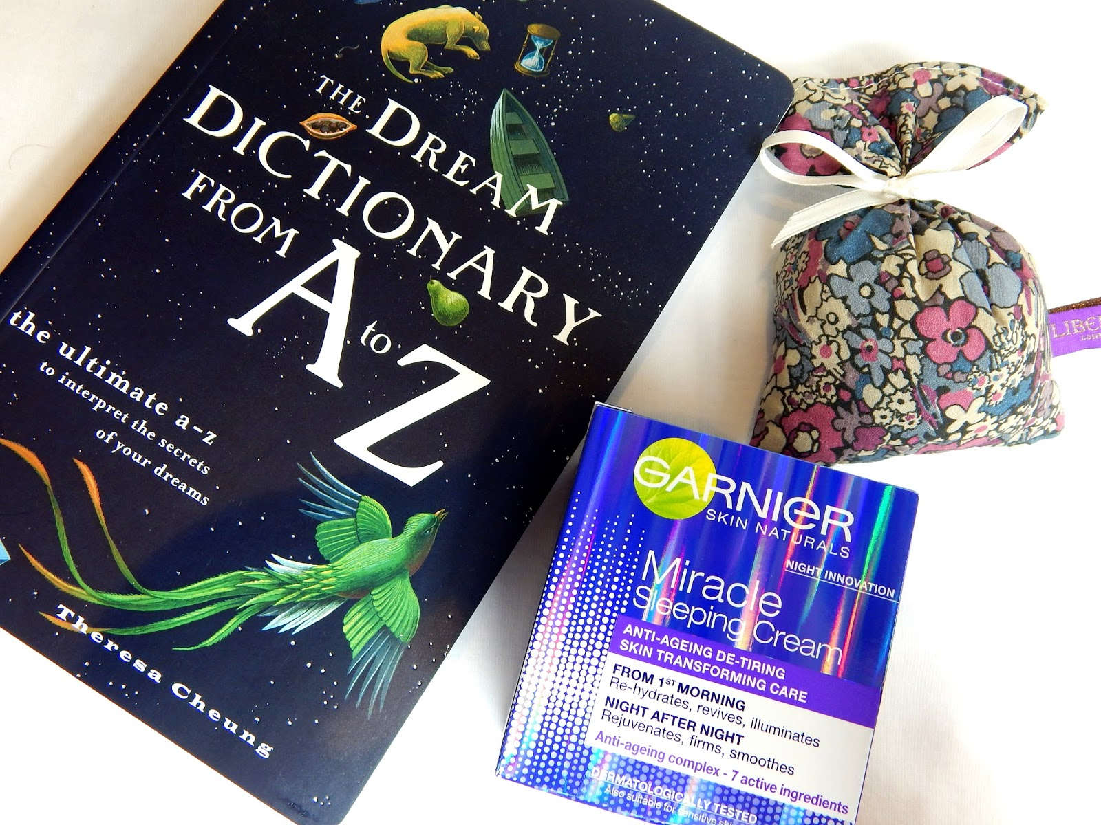 The dream dictionary from A-z, liberty london, garnier miracle sleeping cream