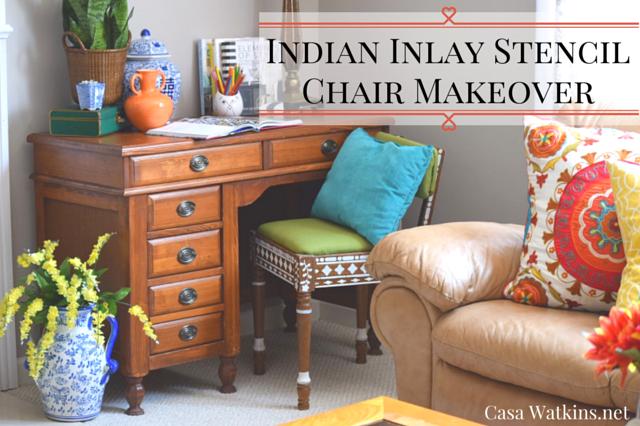 diy, furniture, indian, inlay, stencil,