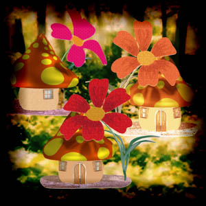 "Free scrapbook kitFree scrapbook kit ""Little fantasy houses"" from Mgtcs digital art stuff ""In Love"" from WaterLo Project"
