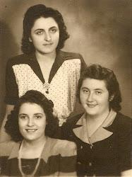 1.10.1945 אחרי המלחמה - פרידה מימין עם חברות בסלוניקי