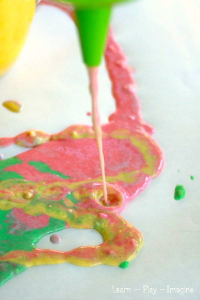 funnel painting art for kids learn play imagine