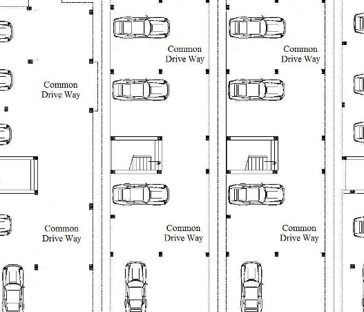 Car parking plan with dimensions the for Car dimensions in feet india