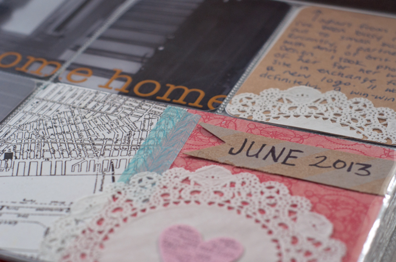 Project life | First Time Homeowners | month by month | scrapbooking | text overlay | moving | The Nest Atlanta