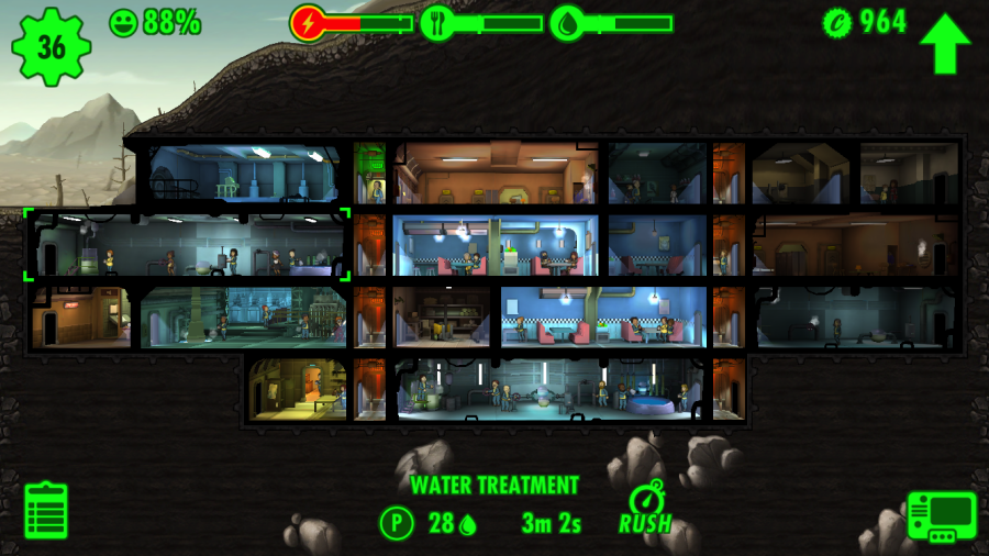 Fallout shelter слабый андроид