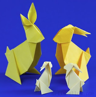 Easter - Two Cute Origami Bunnies