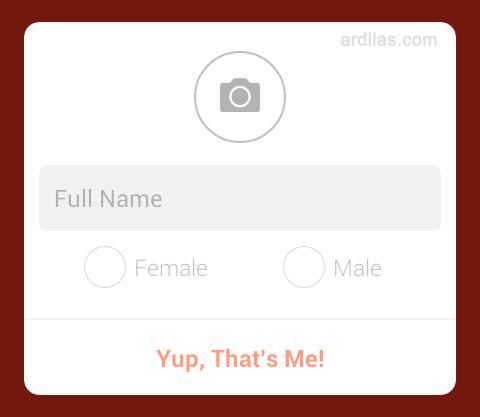 Cara Mendaftar / Membuat Akun di Aplikasi Path - Android - Form : Foto, Full Name& Pilih jenis kelamin