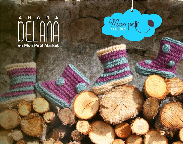 Botas de lana, bebes, Mon Petit Market, handmade