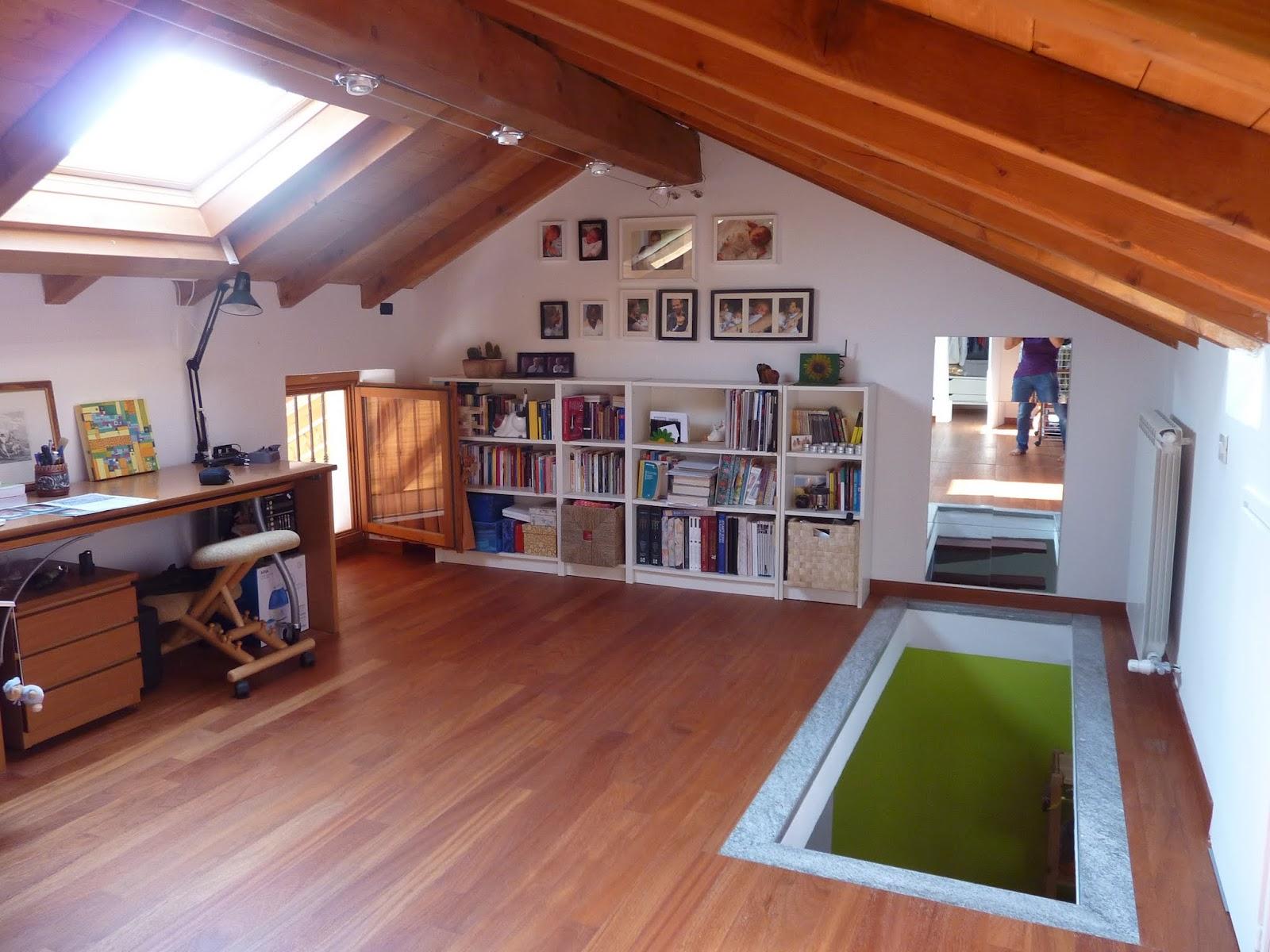 Mansarda open space ampia e vivibile vendiamo casa - Isolamento mansarda ...