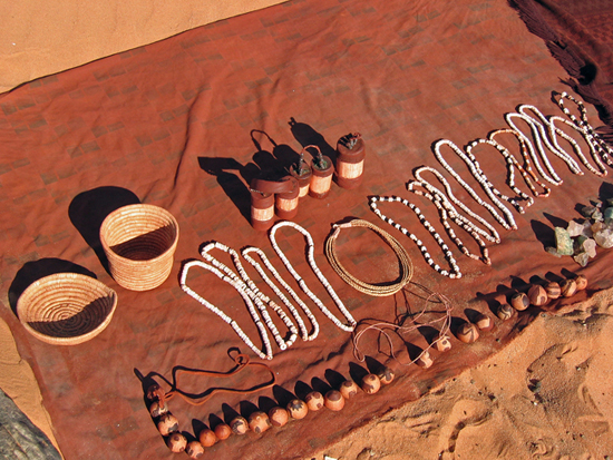 Safari Fusion blog | Shopping bush style | Himba curios in the Namibian desert