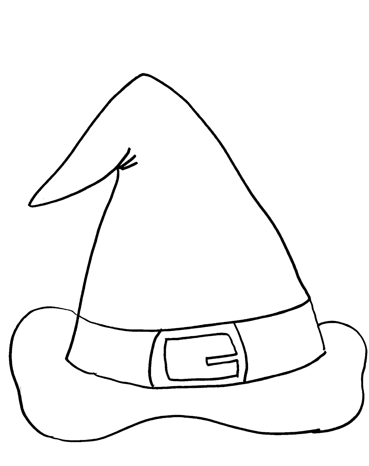 Free witches hat coloring pages