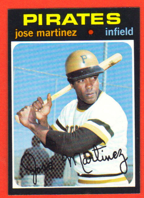Jose Martinez 1971 baseball card