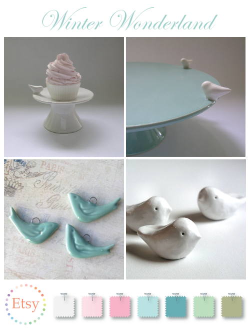 Cute ceramic birds