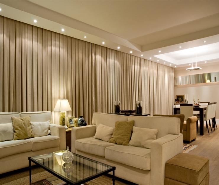 Fazendo em casa cortinas simples e bonitas for Cortinas bonitas para sala
