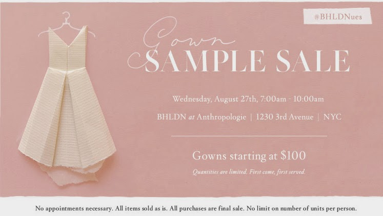 The Fashionisette: Sample Sale [Bridal Edition]: BHLDN