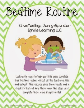http://www.teacherspayteachers.com/Product/Bedtime-Routine-Checklist-948315