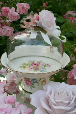 Repurposed Tea Cup Saucer Into Dome Stand