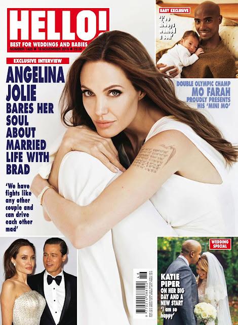 Actress @ Angelina Jolie - Hello! UK, November 2015