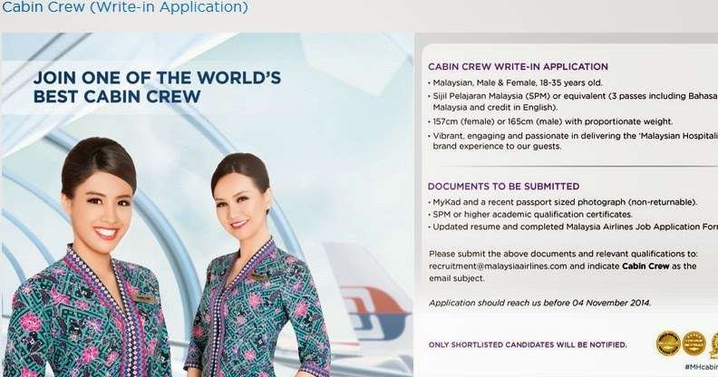 Fly Gosh Malaysia Airlines Cabin Crew Recruitment