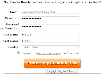 MYFREECOPYRIGHT - fill up your details