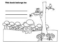 Birds nesting in forest animals in free coloring book by Robert Aaron Wiley for Microsoft Office Online