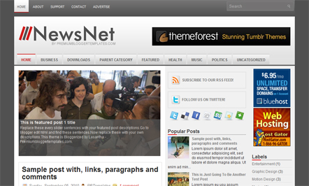 newsnet blogger template 25+ Best Free Magazine Blogger Templates for 2013 Download