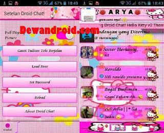 BBM Mod DroidChat New Theme Hello Kitty Versi 2.8.0.21 add Clone