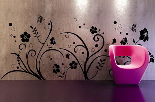 By Fashion Wall Decorating Designs Living Room Wall