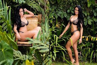 Dai Macedo realizou um ensaio sensual de lingerie e as fotos foram tiradas em Cotia,zona leste de São Paulo e o cenário foi em plena natureza.