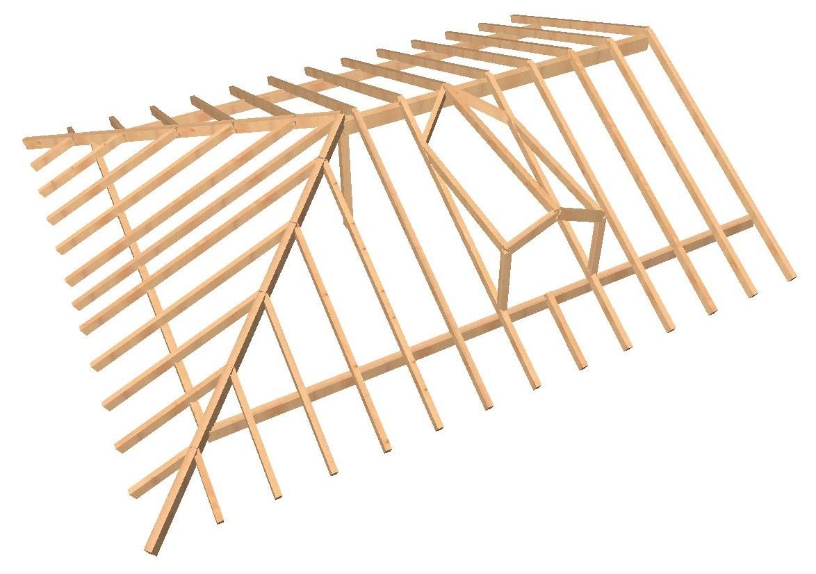 Gsv ingenier a obras for Tejados de madera a 4 aguas