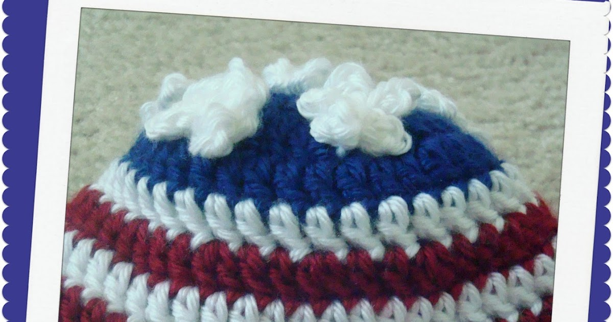 Small American Flag Crochet Pattern : Crystal Panda: American Flag Crochet Newborn Hat
