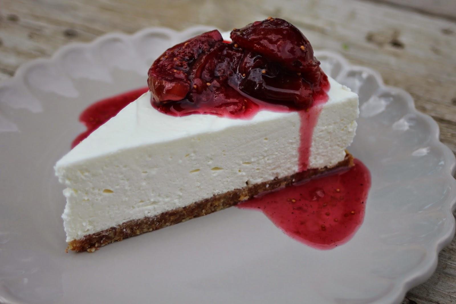 Paulas Frauchen Creme Fraiche Cheesecake Mit Feigenkompott
