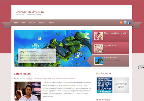 Casandres Magazine Blogger Theme