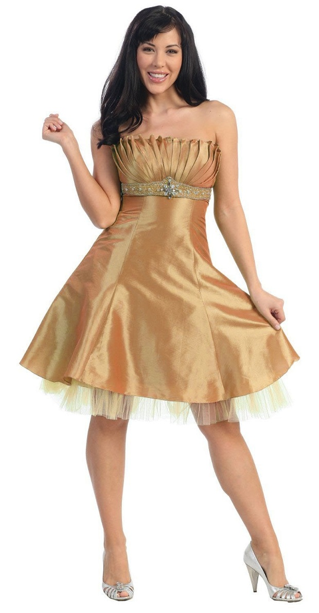 Gold prom dresses cheap short 2017 prom gowns