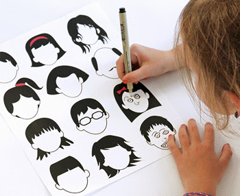 Free Printable: Blank Faces Drawing Page