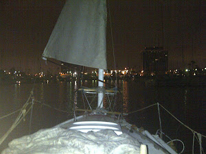 Sailing with the Make Shift Sail at Night