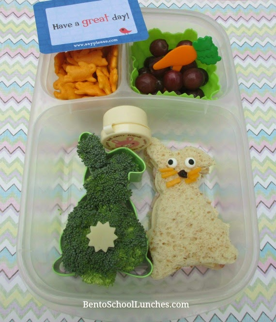 Here comes Peter cottontail Easter bento school lunch