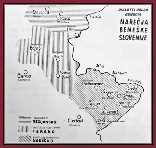 dialetti della Benecia/Slavia friulana