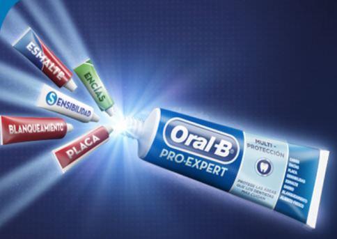 Muestra gratis de la Pasta de dientes oral B