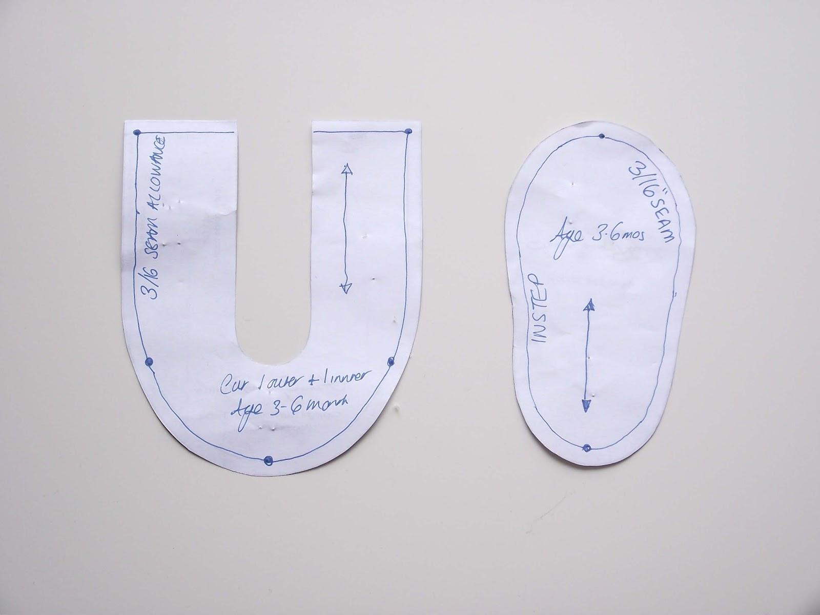Baby Shoe Pattern Paper