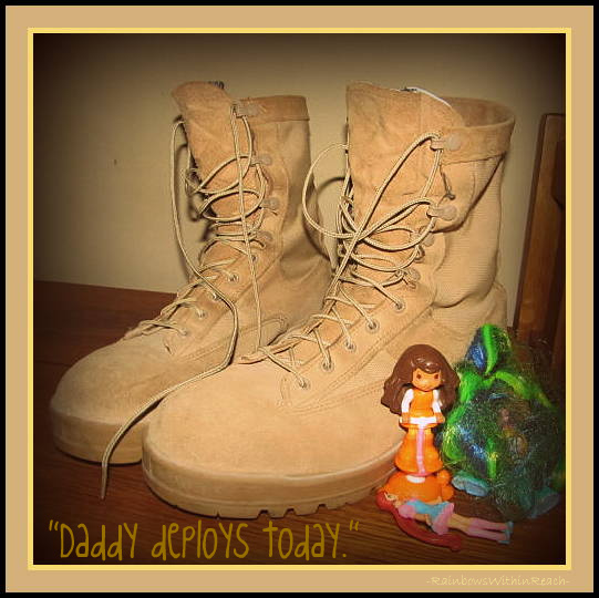"""photo of: """"Daddy Deploys Today"""" Memorial Day Tribute at RainbowsWithinReach"""