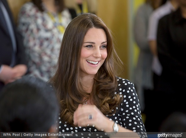 Catherine, Duchess of Cambridge visits the Brookhill Children's Centre in Woolwich