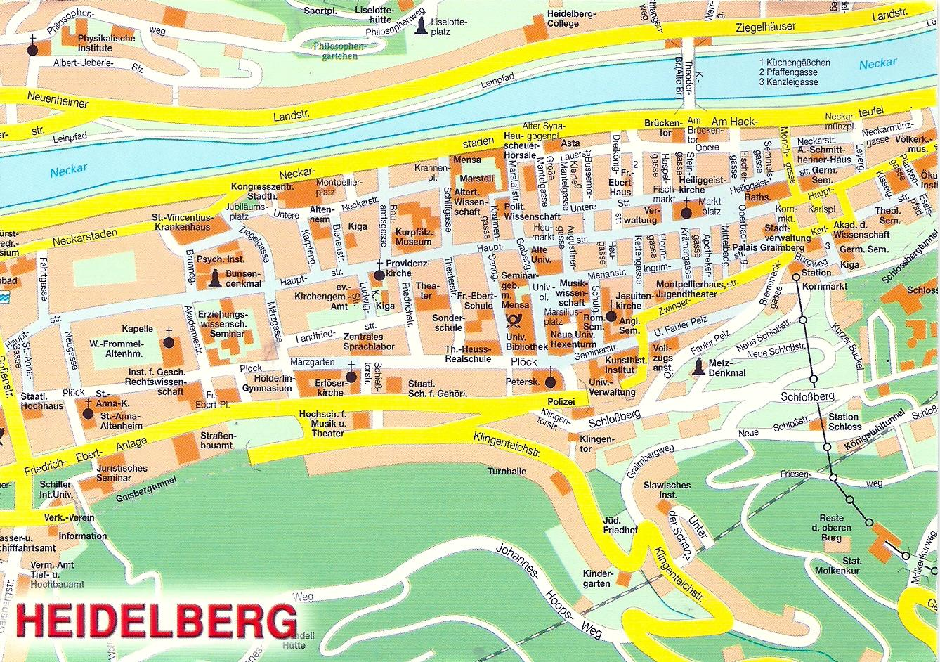 Projek Satu Dunia One World Project Germany Map of Heidelberg
